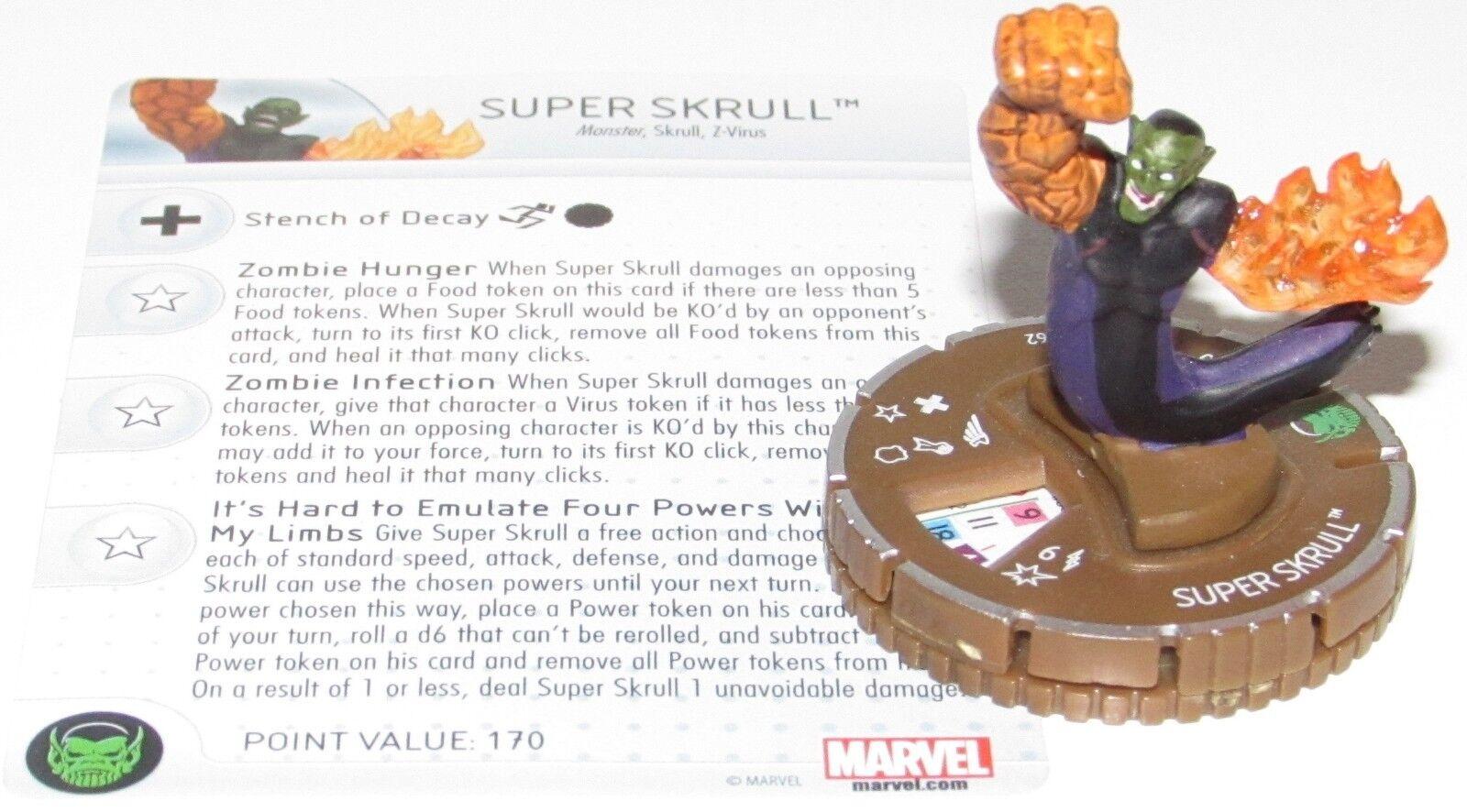 Super Skrull (Zombie)   062 Guardiani Della Galassia Marvel Heroclix Chase Raro  scegli il tuo preferito