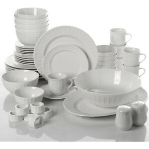 Dinnerware Set 46 Piece Plates Dishes