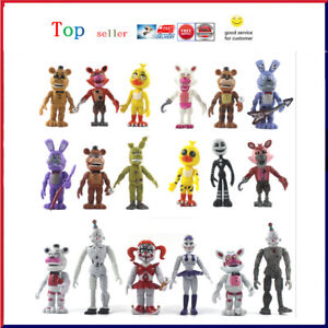 Five Nights at Freddy's Action Figure Pack Set FNAF Nightmare Doll Toy Birthday