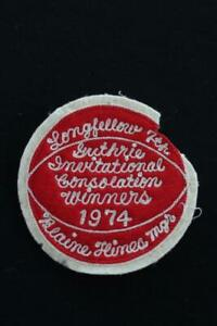 VINTAGE-RED-AND-WHITE-1974-SCHOOL-JACKET-PATCH-4-1-2-034-X-4-1-2-034