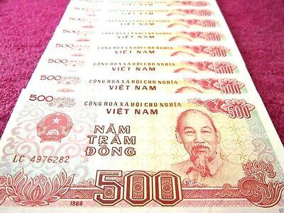 Vietnam 500 Dong Banknote papermoney Full Bundle 100PCS UNC Lot Pack