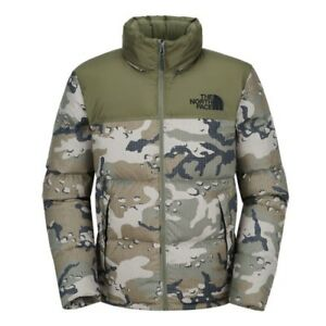 88b7abfd92 THE NORTH FACE NUPTSE 700 FILL GOOSE DOWN JACKET OLIVE GREEN CAMO ...