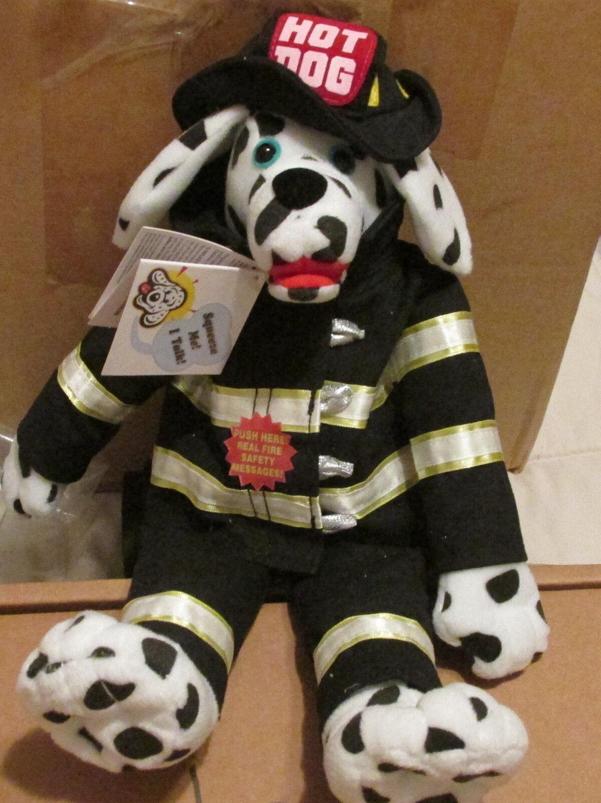 Código 3 FDNY Peluche  hot dog  bombero habla Nuevo en paquete de gastos de envío gratis
