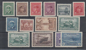 Canada-Sc-249-262-MLH-1942-43-KGVI-War-Issue-VF