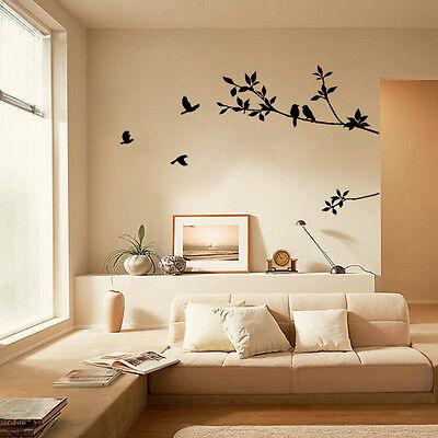 Bird Tree Leaf PVC Removable Room Vinyl Decal Art DIY Wall Sticker Home Decor