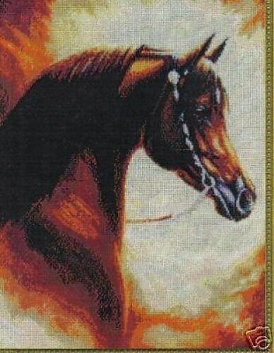 """Cross Stitch Chart Pattern /""""Fadjur The Magnificent/"""" Horse - Arab Stallion"""
