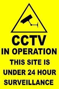 Cctv Warning Sign Personalised Custom Made Ebay