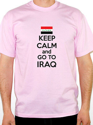 KEEP CALM AND GO TO IRAQ - Iraqi / Western Asia / Novelty Themed Mens T-Shirt