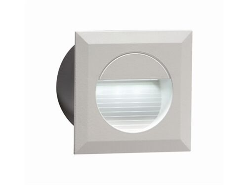 Recessed White LED Square Wall Light Indoor/Outdoor Mini Light 80mm Diam NH019W