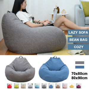 Excellent Details About Uk Soft Bean Bag Chairs Couch Sofa Lazy Lounger Home Cover Indoor Wash Hot New Inzonedesignstudio Interior Chair Design Inzonedesignstudiocom