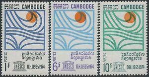 Cambodge N°200/202** Eau, Energie Hydraulique 1967, Cambodia Hydro Power Set Mnh Circulation Sanguine Tonifiante Et Douleurs D'ArrêT