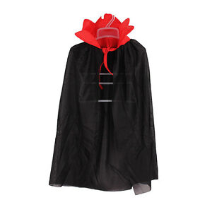 Kids-Halloween-Costume-Theater-Prop-Death-Hoody-Cloak-Devil-Long-Tippet-Cape-LJ