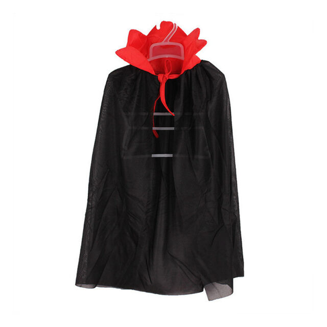 Kids Halloween Costume Theater Prop Death Hoody Cloak Devil Long Tippet Cape WG