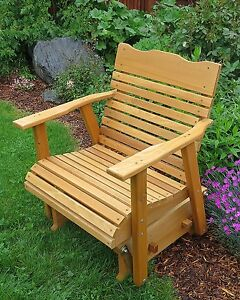 Miraculous Details About Wood Cedar Porch Glider Outdoor Furniture With Stained Finish Amish Crafted Creativecarmelina Interior Chair Design Creativecarmelinacom