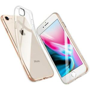 For iPhone 8 Clear Transparent Soft Silicone TPU Gel Rubber Case ...