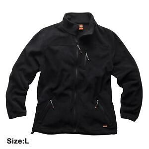 Scruffs-Worker-Fleece-Black-Men-039-s-Water-Resistant-Work-Jacket-Large