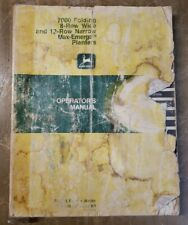 John Deere 7000 Max Emerge Planters 8 Row Wide 12 Row Narrow 1j 3199 M3