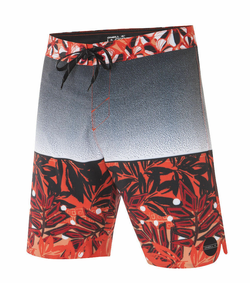 O'Neill LEI LEIS Mens Polyester Blend Boardshorts Size 32 Neon Red NEW