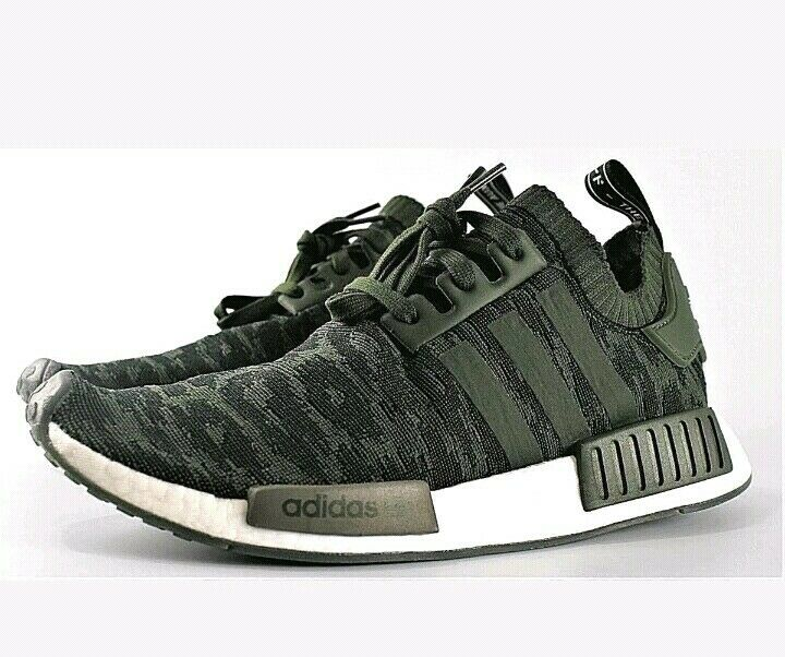 Men's Adidas NMD R1 PK Primeknit Casual shoes Night Cargo   Green Sz 13 CQ2445