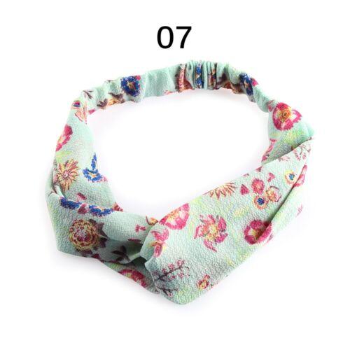 Yoga Bohemian   Elastic Headband  Turban Floral Hair Band Women Hairband