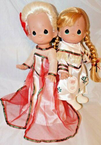 Disney FROZEN CHRISTMAS Elsa /& Anna Precious Moments Dolls SET