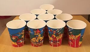 Vintage-THUNDERCATS-Paper-Drinking-cups-lot-of-10-Unused-1985