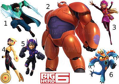 BIG HERO 6 BAYMAX IRON ON T-SHIRT FABRIC TRANSFER OR STICKER WALL DECAL LOT H6