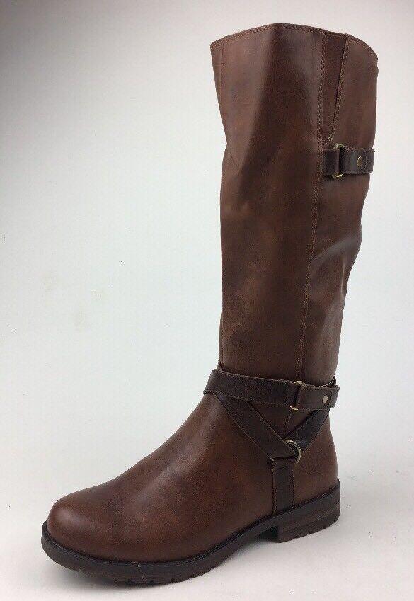 Natural Soul Women's Bridget High Boots, Size 8 M, Brown 589