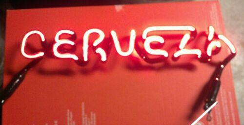 Cerveza beer neon sign part script letter bar light piece mancave Dos Equis bud