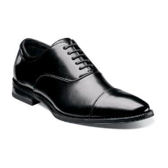 più sconto Stacy Adams Uomo scarpe Kordell nero Lace up cap toe toe toe Leather sleek fit 24919-001  scegli il tuo preferito