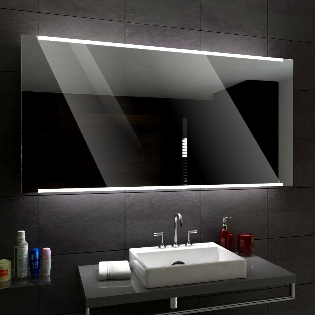 Hobart éclairé del Miroir salle de Bain Led personnalisé Größe versions