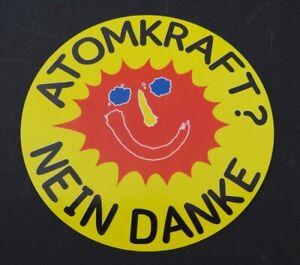 Umweltschutz-Aufkleber Nuclear Power ? No Thanks 80er Anti Akw Green