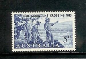 1963-5d-Blue-Mountains-Crossing-MUH-pre-decimal-stamp