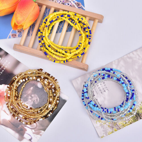 Bohemian Colorful Double Row Beads Body Chains Belly Waist Beach Chains Jewe L/_X