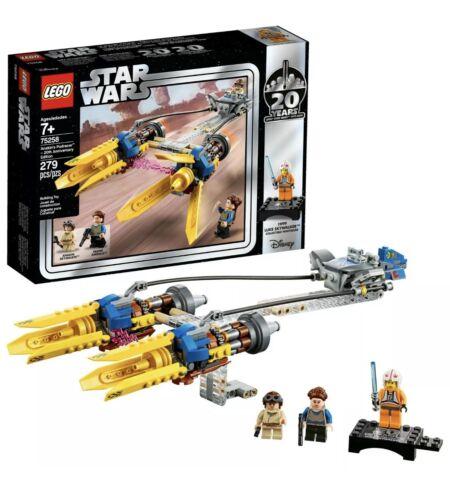 LEGO STAR WARS 20th ANNIVERSARY EDITION ANAKIN/'S PODRACER Building Kit 75258 NEW