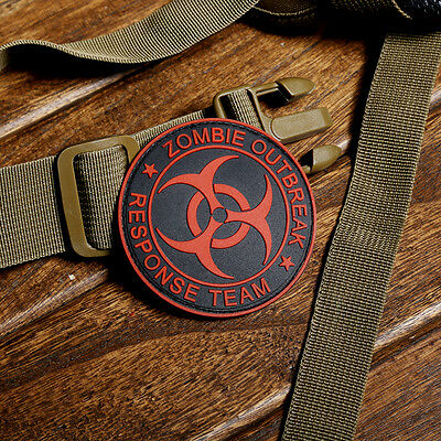 ZOMBIE HUNTER OUTBREAK RESPONSE TEAM 3D PVC TACTICAL BIOHAZARD  VELCRO PATCH