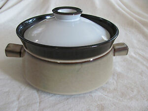 Denby-Langley-Country-Cuisine-Tan-Rim-Brown-Trim-1-Qt-Covered-Casserole-2-Avail