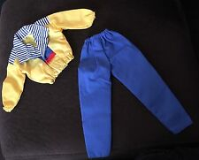 Ken Barbie Doll Fashion Outfit - 1990 Activewear Blue Yellow Stripe Set 2437