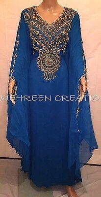 Dubai Moroccan Kaftan Georgette Dress Jilbab Arabian clothing Hot ISLAMIC 4821