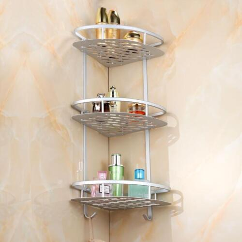 Wall Corner Rack Holder Bathroom Shower Caddy Shelf Triangular Storage Organizer