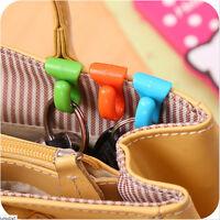 2Pcs Plastic Hangers Key Ring Chain Holder Hook Handbag Shoulder Bag Organizer M
