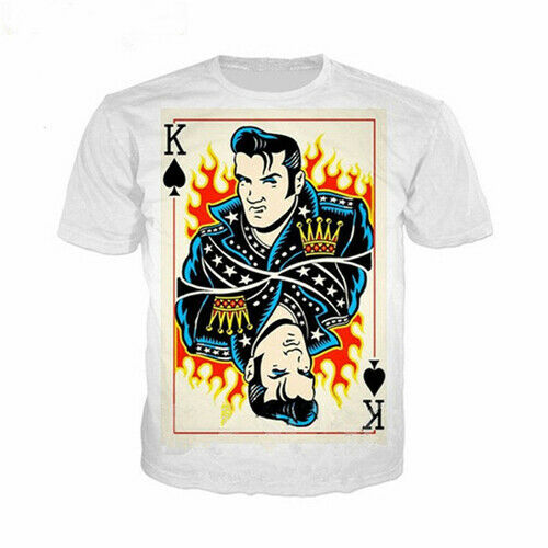 Singer King Elvis Presley 3D Print Poker Women Men T-Shirt Short Sleeve Tee Tops
