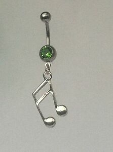 MUSIC-NOTE-Belly-Bar-dangle-Choice-of-colour-UK-made-Free-1St-Class-Post