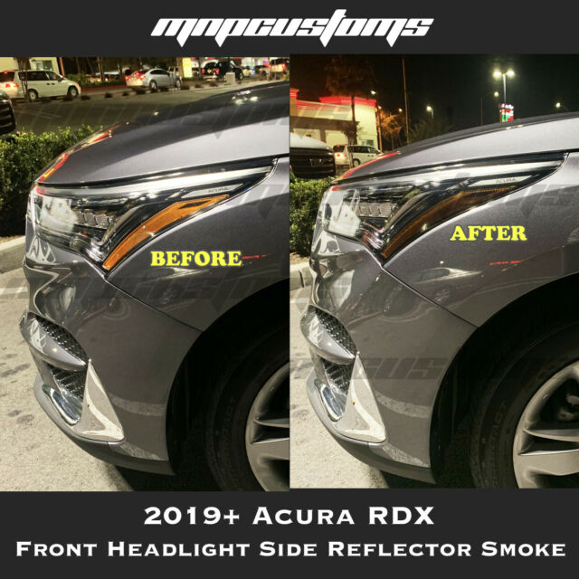 Fit For 2019+ Acura RDX Head Light Side Reflectors Markers