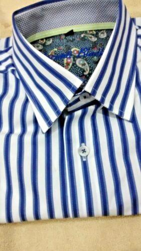 Nwt Camisa manga y Visconti de hombres para botones a botones camisa rayas con larga Luchiano PZxZWEw