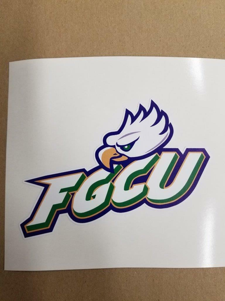 Fgcu Eagles Cornhole board or vehicle window decal(s)FE2