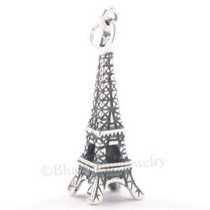 EIFFEL-TOWER-Charm-Paris-France-Travel-Pendant-Bracelet-Sterling-Silver-925-3D