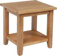 Spencer Oak Furniture Lamp Side End Table With Shelf