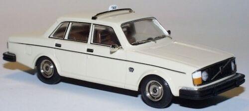 wonderful German modelcar VOLVO 244 DL SALOON 1976 TAXI - ivory - scale 1/43