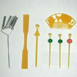 Japanese-Doll-Miniature-KANZASHI-set-G-7-pieces